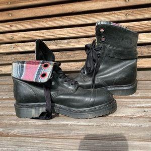 Doc Martin Black Plaid Boots